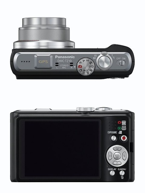 Panasonic TZ 10 camera views - Controls and LCD screen