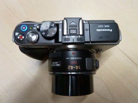 Top-view of Panasonic Lumix GX1
