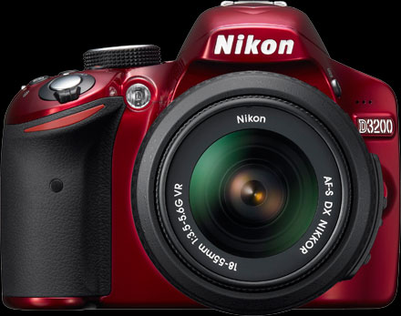 new Nikon D3200 red