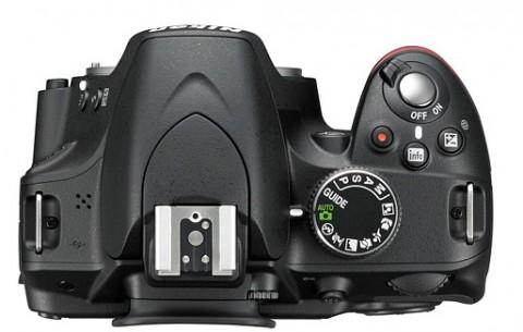 Nikon D3200 top view