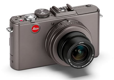 Leica D-Lux 5 with silver-grey metallic body