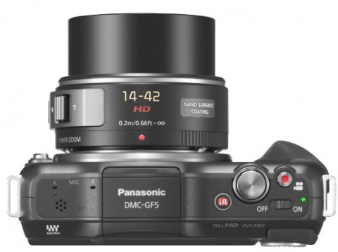 Panasonic GF5 top view