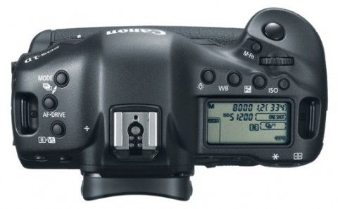 Canon EOS-1DX top controls