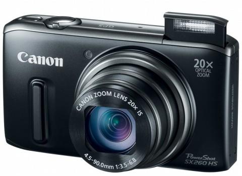 Canon PowerShot SX260 HS front picture