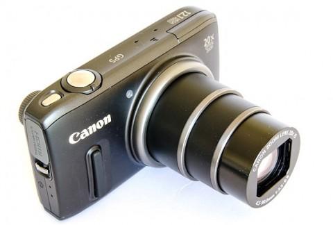 Canon PowerShot SX260 HS top view