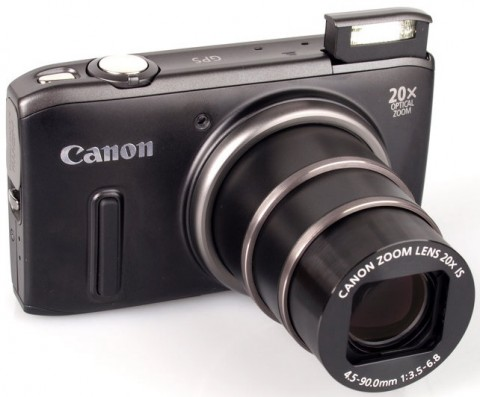 20x optical zoom lens of Canon PowerShot SX260 HS