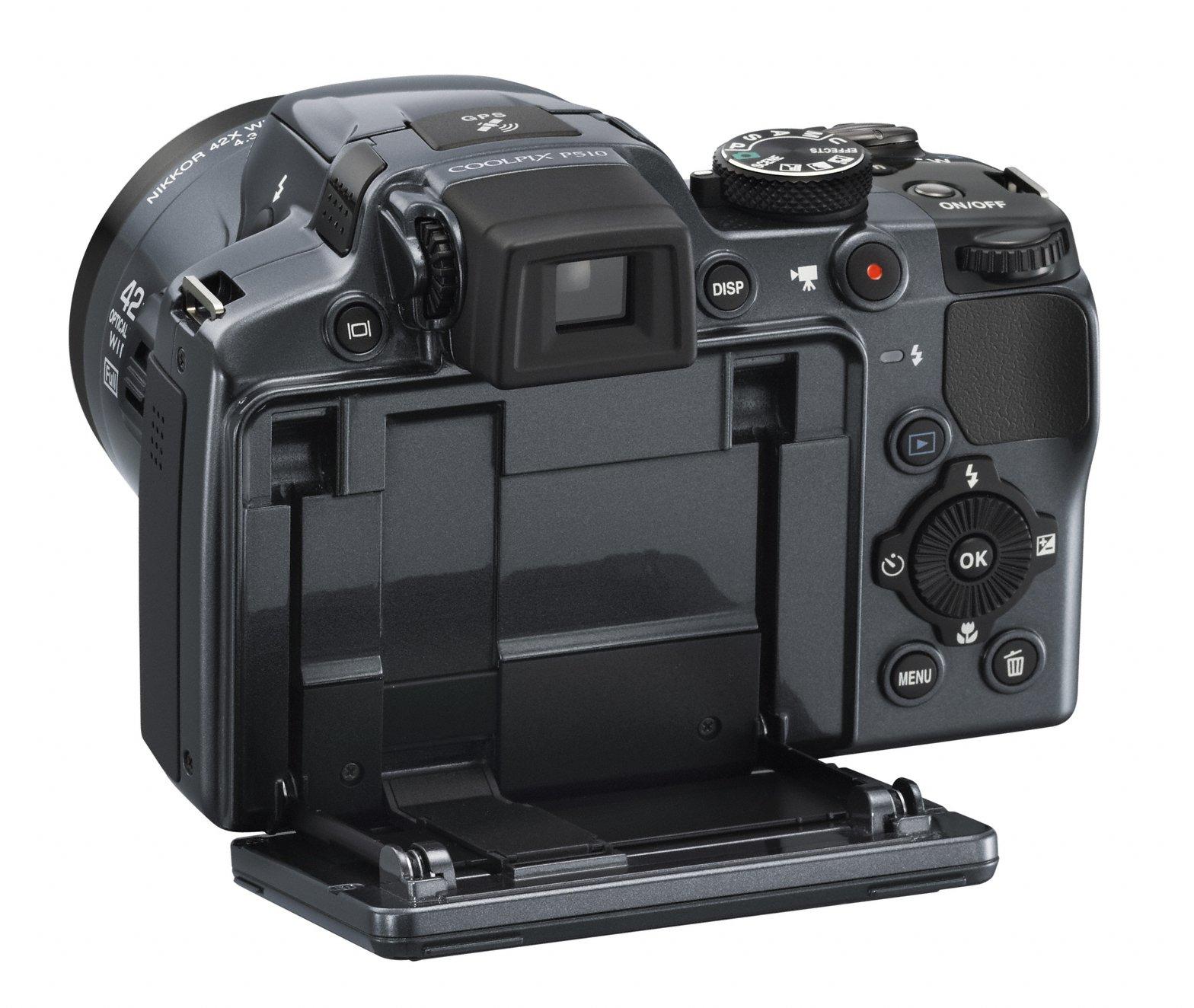 detail of Nikon Coolpix P510's display