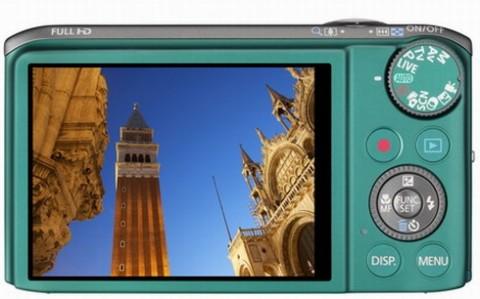 Canon SX260 HS display detail