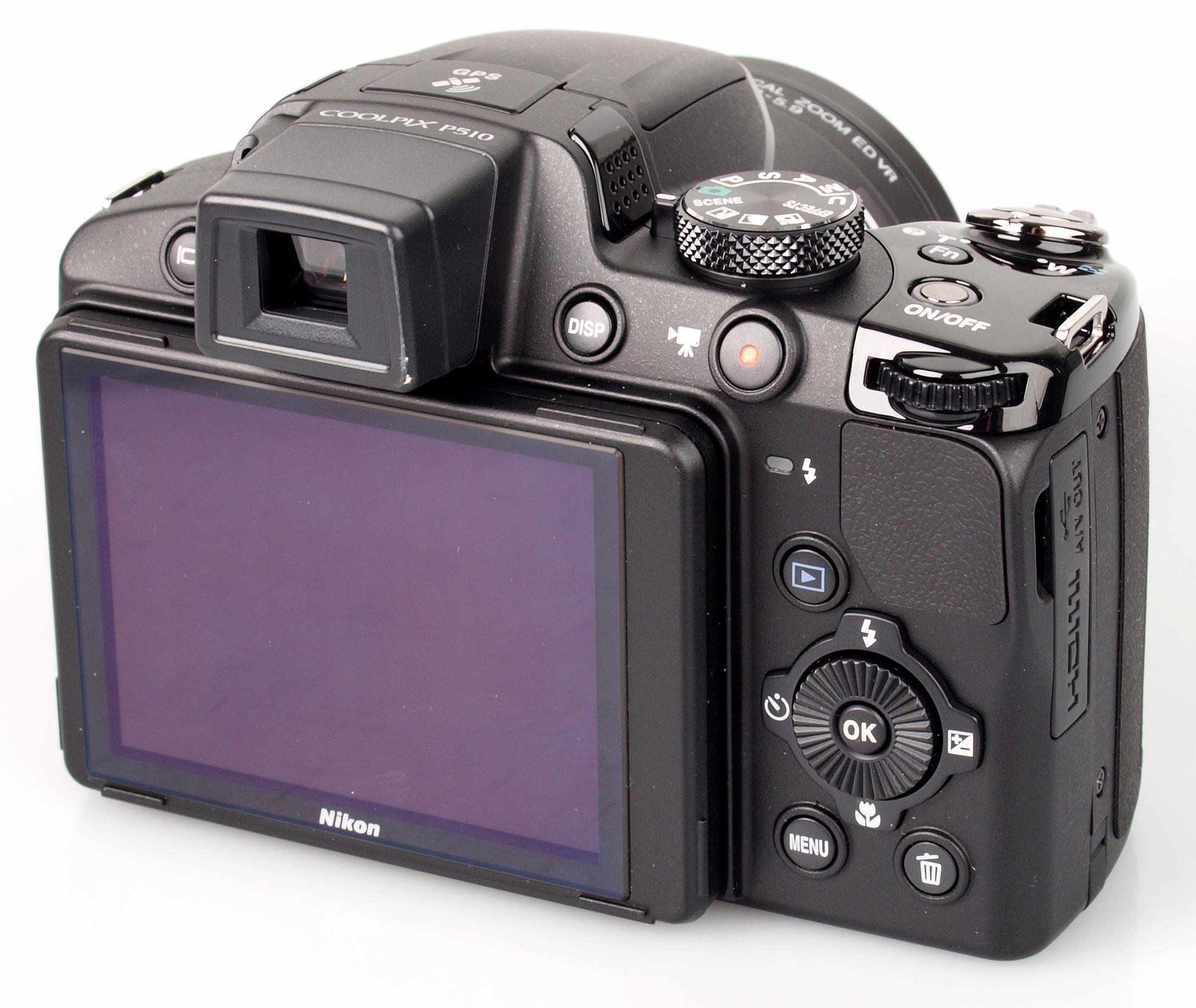 TFT-LCD monitor of new Nikon Coolpix P510