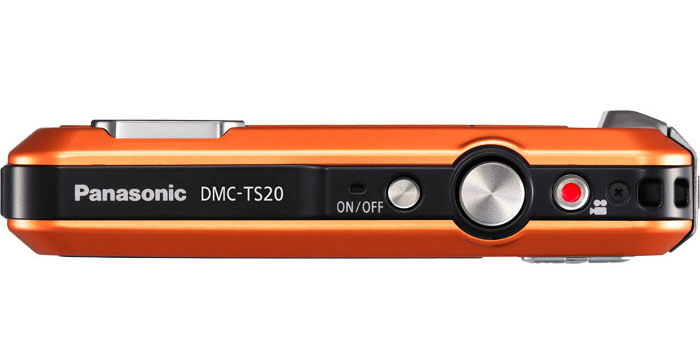 Panasonic Lumix DMC-TS20 top detail