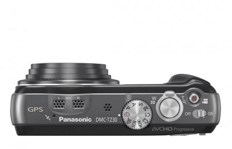Panasonic Lumix DMC-TZ30 top