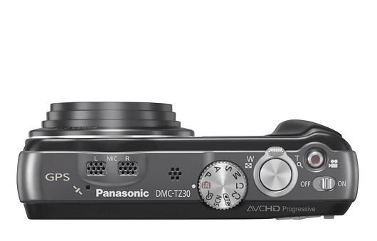 Panasonic Lumix DMC-TZ30 top