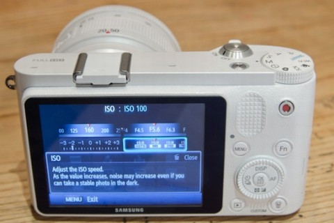 Samsung NX1000 display detail