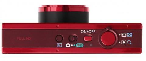 Canon ELPH 520 HS controls detail