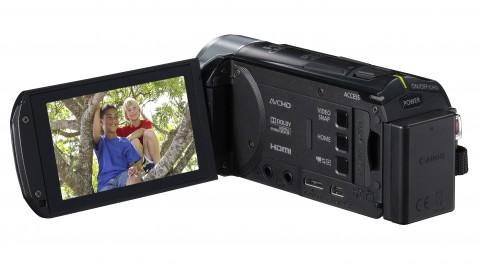 Canon Vixia HF R300 LCD detail
