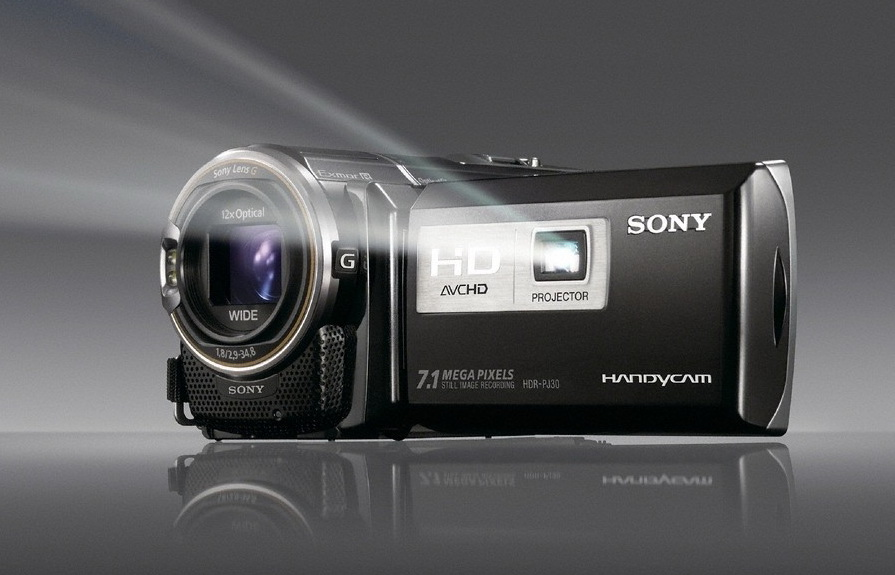 Sony HDR PJ30V with projector
