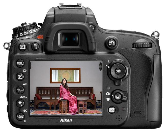 Nikon D600 LCD monitor