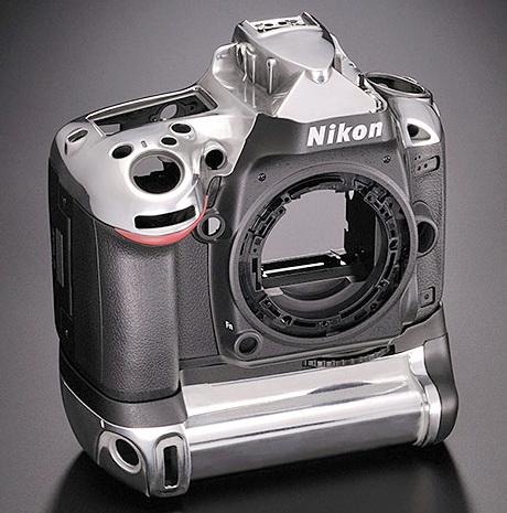Nikon D600 magnesium body detail