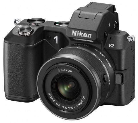 Nikon 1 V2 with lens
