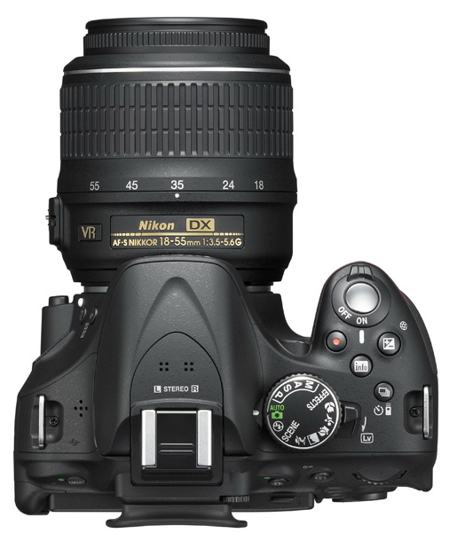 The controls of Nikon D5200
