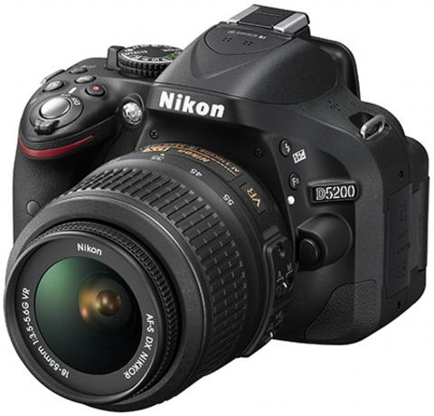 Nikon D5200 with lens