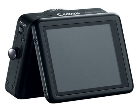 The LCD capacitive display of Canon Powershot N