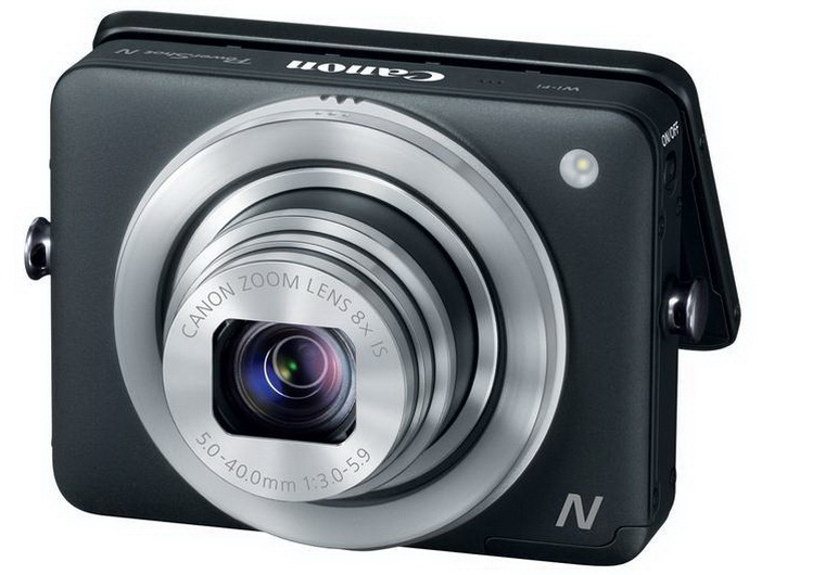 The Canon PowerShot N has an unique design