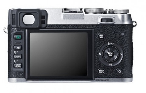 The LCD monitor of Fujifilm X100S