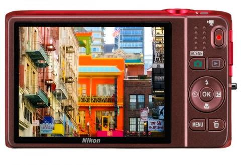 The LCD monitor of Nikon S6500