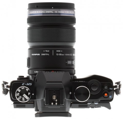 Olympus OM-D E-M5 with lens