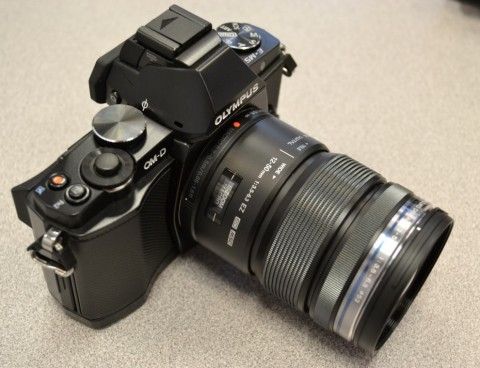 Olympus E-M5 with lens