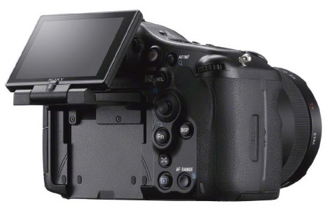 The tiltable TFT LCD of Sony a99