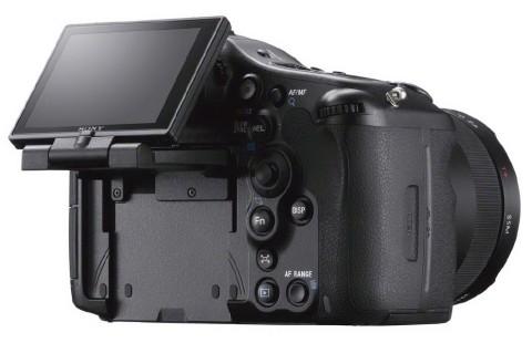 The tiltable TFT LCD of Sony a99