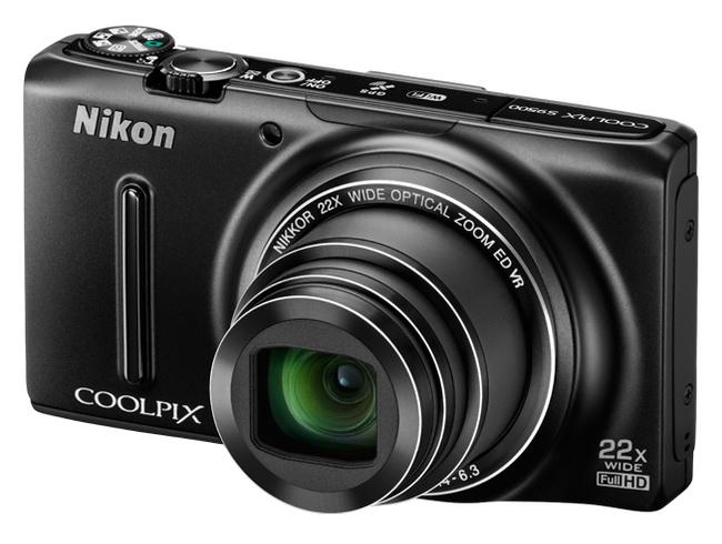The Nikon Coolpix S9500 digital camera