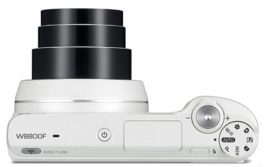 Samsung WB800F with 21x optical zoom lens