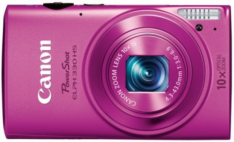 Canon ELPH 330 HS pink