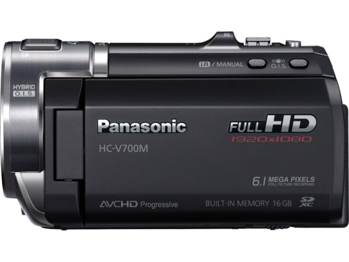 The HC-V700M camcorder from Panasonic