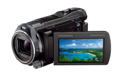 Sony HDR-PJ650 HD camcorder with a projector