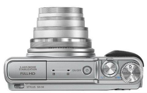 The 24x optical zoom lens of  Olympus SH-50 iHS