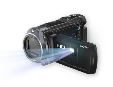 The Sony HDR-PJ650 has a built-in projector