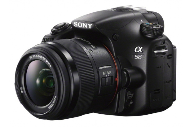 The Sony A58 with additional lens