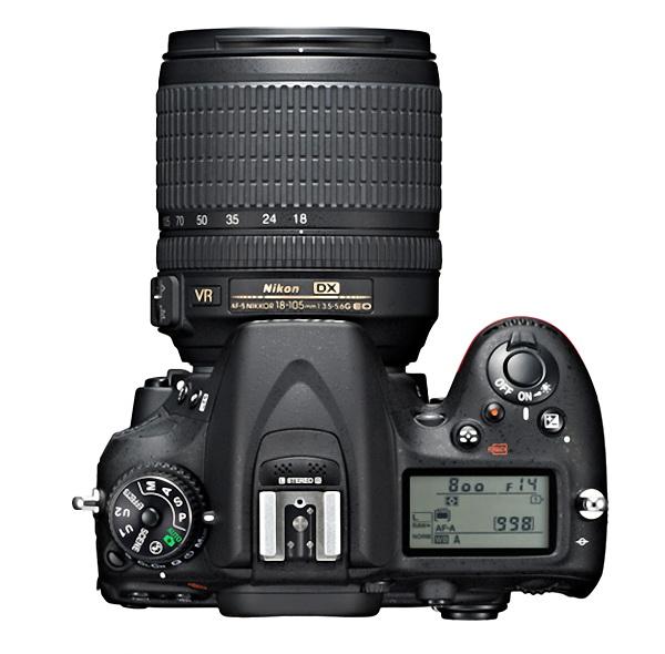 Nikon D7100 top view
