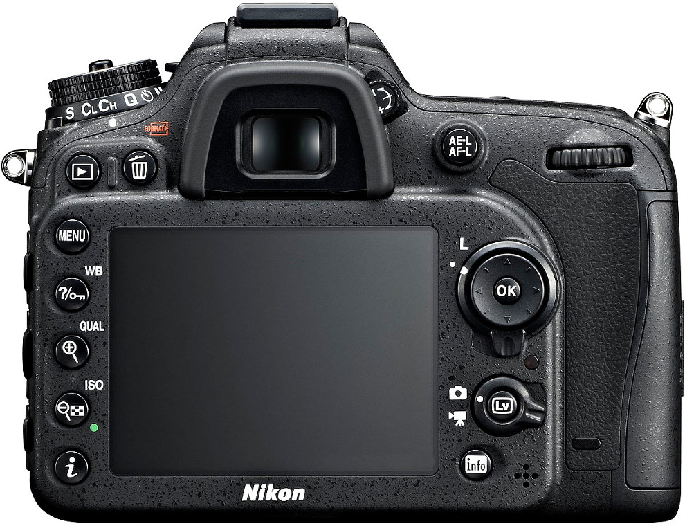 The LCD monitor of the Nikon D7100