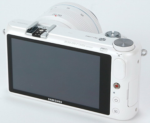 The LCD touchscreen of the NX2000