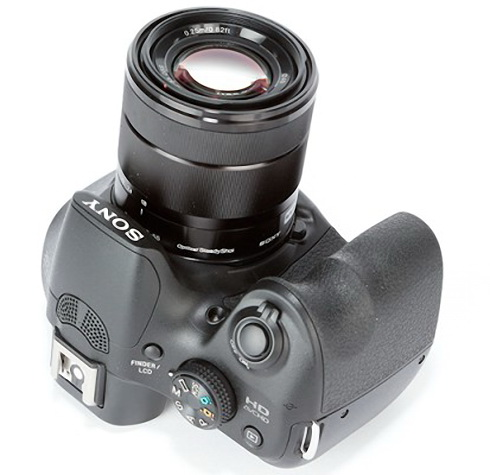 Sony A3000 with lens