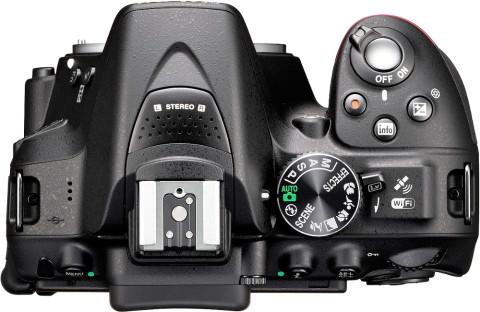 The buttons and controls of the Nikon D5300