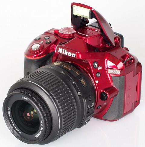 Nikon D5300 with pop-up flash