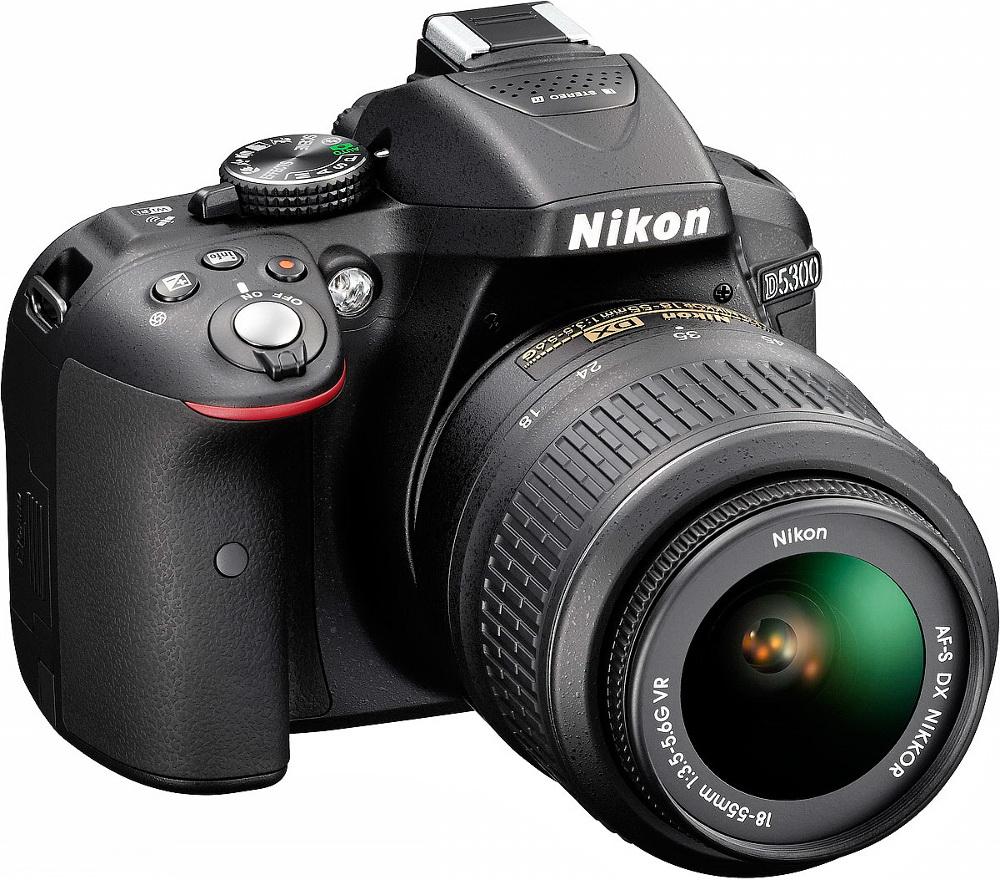 Nikon D5300 with lens