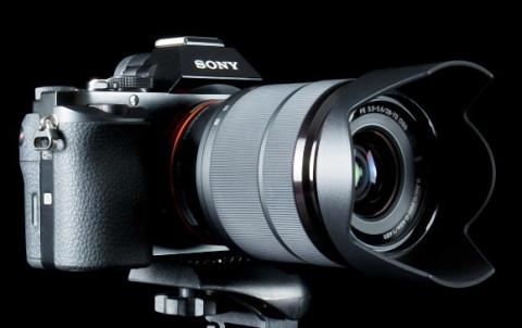 Sony Alpha a7 with lens