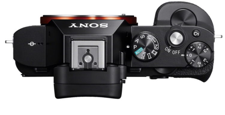 Sony a7 top view